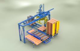 Автоматическая система пакетирования для вибропрессов Рифей